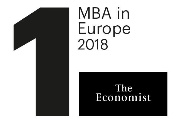 #1 MBA in Europe, The Economist 2018